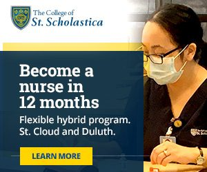 Become a nurse in 12 months at the College of St. Scholastica